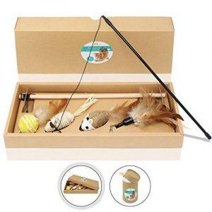 Amazy Cannes à pêche pour chat – Lot de jouets pour amuser votre chat et animer son quotidien (lot de 4) de la marque Amazy image 0 produit