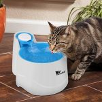 Amzdeal Distributeur de L'eau Automatique pour Chien/Chat, Fontaine de Filtre d'Eau Recyclable pour Animaux Domestique - Bleu de la marque Amzdeal image 1 produit