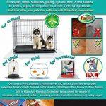 Cage pour Chien en polycarbonate Tex sol Protection d'écran pour caisses jusqu'à 120cm x 134cm, transparent (cage134er) de la marque Floortex image 4 produit