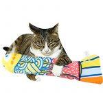 CAT Herbe à chat jouet, Ifoyo Poisson à herbe à chat jouet pour chat 38,1cm Big Crinkle garni de jouet pour chat Cat Taie d'oreiller, Jaune de la marque IFOYO image 2 produit