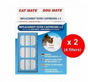 Cat Mate Dog Mate - Cartouches Filtres de Rechange pour Fontaine à Eau Chien Chat (Lot de 2 x 2) de la marque Pet Mate image 0 produit