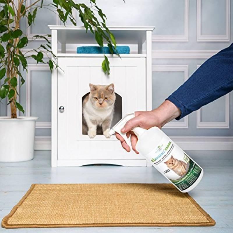 Produit Nettoyant Et Eliminateur Du0027odeur Bio Pour Chats Ecosharkz Animal    Spray Désodorisant Anti Urine Pour Intérieurs Avec Chat Et Litière    Concentré De ...