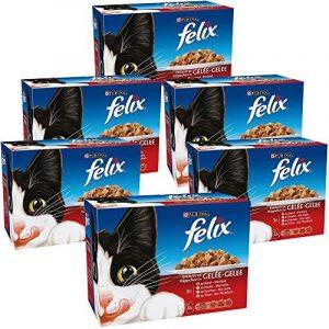 Felix Emincés en Gelée Viandes-Poissons - 12 x 100 g - Sachets repas pour Chat Adulte - Lot de 6 de la marque Felix image 0 produit