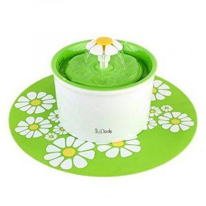 Fontaine à Fleur pour Chat Automatic Electric Flower 1.6 L Distributeur de Nourriture Vert de la marque Pedy image 0 produit