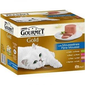 Gourmet Gold Les Mousselines Multivariétés - 24 x 85 g - Boîtes pour Chat Adulte - Lot de 4 de la marque GOURMET image 0 produit