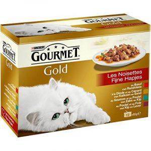Gourmet Gold Les Noisettes - 12 x 85 g - Boîtes pour Chat Adulte - Lot de 8 de la marque GOURMET image 0 produit