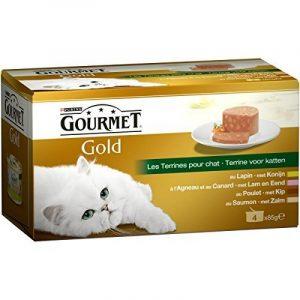 Gourmet Gold Les Terrines Multivariétés - 4 x 85 g - Boîtes pour Chat Adulte - Lot de 24 de la marque GOURMET image 0 produit