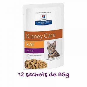 Hill's Prescription Diet Feline K/D Santé Rénale Nourriture pour Chat Sachets 12x85g Bœuf de la marque Hill's image 0 produit