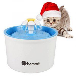 Hommii Fontaine à Fleur pour Chat Automatic Electric Flower 1.6 L Pet Water Fountain Drinking Bowl Blue de la marque Hommii image 0 produit