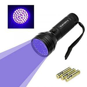 Lampe de poche lumière noire Vansky® UV avec 51 LED   Détecteur d'urine pour animaux séchés dans souille vos chiens, les chats et les rongeurs sur les tapis, les rideaux, les meubles et autres matériaux   incl. batteries 3xAA [Classe énergétique A] de image 0 produit
