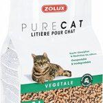 Litière pour chat PURE CAT végétale bois compressé non traité 8 L haute absorption, neutralise les odeurs de la marque Zolux image 1 produit