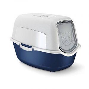 Maison de toilette pour chat bleu/blanc de la marque Rothobabydesign image 0 produit