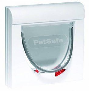 PeSafe - Chatière Magnétique pour Chat Classique Staywell, Verrouillage à 4positions, Résistante et Facile à installer, avec Tunnel d'extension Fixe - Blanc de la marque PetSafe image 0 produit