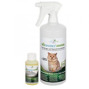 Produit Nettoyant et Eliminateur d'odeur Bio pour Chats Ecosharkz Animal - Spray désodorisant anti urine pour intérieurs avec chat et litière - Concentré de 50ml - jusqu'à 2L de solution nettoyante de la marque Ecosharkz image 0 produit