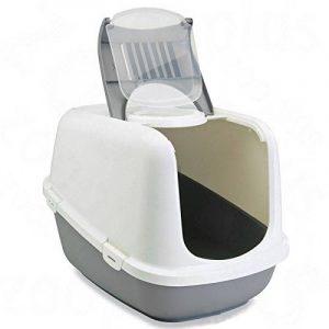 Savic Nestor Jumbo Maison de Toilette pour Chat Gris/Blanc 66x48x46 cm de la marque Savic image 0 produit