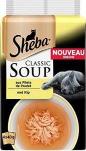 SHEBA Set de 12 Soupes aux Filets de Poulet pour Chat 4 x 40 g 48 Sachets Fraîcheur de la marque Sheba image 0 produit