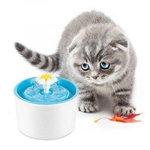 Vingtank Automatic Cat Flower Fountain Mute Pet Water Dispenser Support 3 Modes de débit d'eau avec filtre à charbon pour chien-chien FDA / LFGB approuvé de la marque Vingtank image 0 produit