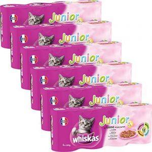 Whiskas boîtes de terrines aux viandes pour chat junior 4x400g - Lot de 6 (24 Boîtes) de la marque Whiskas image 0 produit