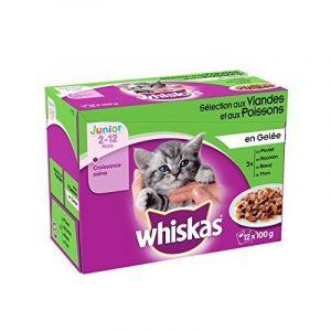 Whiskas Fraîcheur en Gelée pour Chaton 12 x 100 g 4 Sachets - Lot de 4 de la marque Whiskas image 0 produit