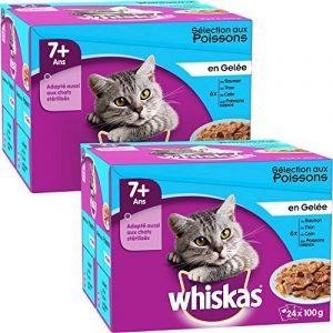 Whiskas sachets fraîcheur aux Poissons en gelée pour chats de 7+ 24x100g - Lot de 2 (48 Sachets fraîcheur) de la marque Whiskas image 0 produit