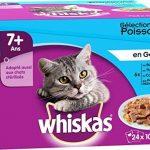 Whiskas sachets fraîcheur aux Poissons en gelée pour chats de 7+ 24x100g - Lot de 2 (48 Sachets fraîcheur) de la marque Whiskas image 1 produit