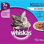 Whiskas sachets fraîcheur aux Poissons en gelée pour chats de 7+ 24x100g - Lot de 2 (48 Sachets fraîcheur) de la marque Whiskas image 5 produit