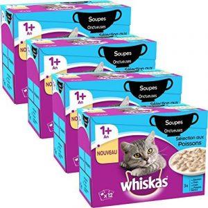Whiskas Soupe au Poisson pour Chat 12 x 85 g (4 boites) de la marque Whiskas image 0 produit