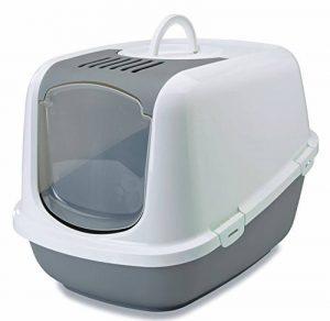 XXL Toilette de chat NESTOR JUMBO blanc-gris spécialement pour chat de grands races de la marque Savic image 0 produit