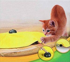 Yosoo Jouet de chat chaton 4 vitesses en bouche souris caché électronique interactif Jaune de la marque Yosoo image 0 produit
